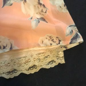 Necessary Clothing Shorts - Floral shorts with lace layer